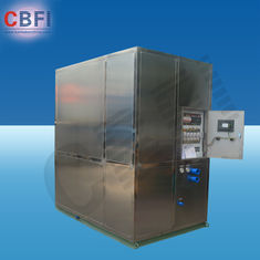 الصين Cold Drink Shops Plate Ice Machine With PLC Central Program Control  مصنع