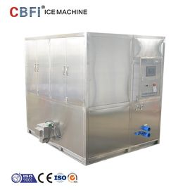 الصين Water Cooled 2 Tons Square Cube Ice Maker for Food Grade Plant مصنع