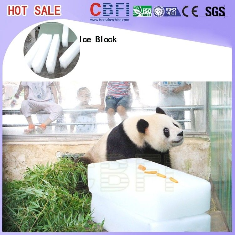 R22 / R404a Refrigerant Ice Block Machine , Meat Cooling Ice Block Making Business المزود
