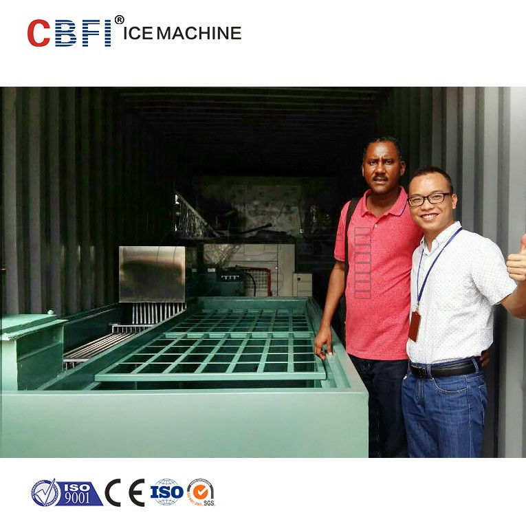 Commercial Containerized Block Ice Machine Big Containerized Block Ice Plant المزود